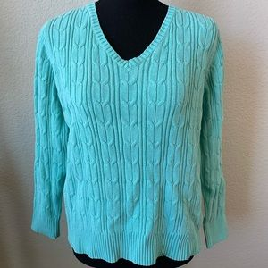 St. Johns bay teal sweater